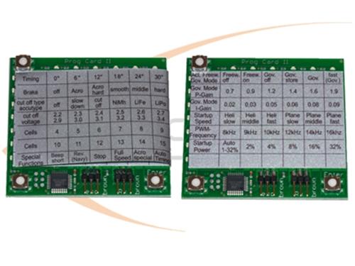 Picture of MSH/YGE ESC programmeringskort