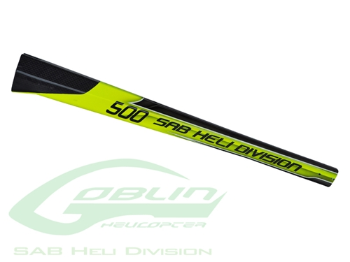 Picture of Carbon Fiber Tail Boom Yellow/Black - Goblin 500