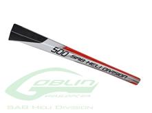 Billede af Carbon Fiber Tail Boom White/Red - Goblin 500