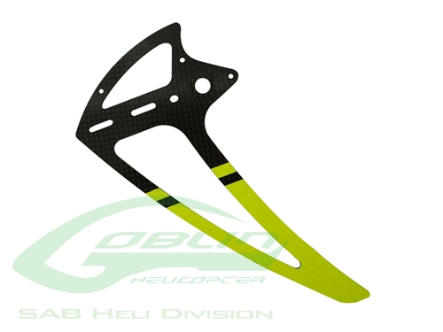 Picture of Carbon Fiber Tail Fin Yellow - Goblin 500