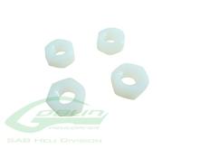 Billede af SAB M8 H6.5 Nylon Hex Nuts (4pcs)- Goblin 500/630/700/770