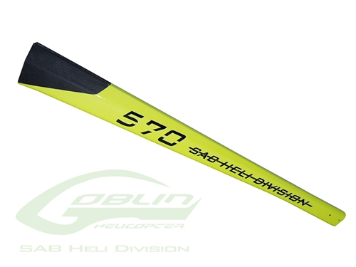 Picture of Carbon Fiber Tail Boom Yellow - Goblin 570