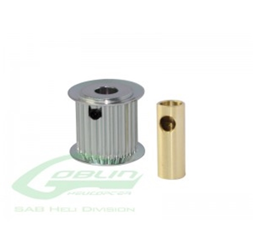 Picture of Aluminum Motor Pulley 19T (for 6/8mm motor shaft)