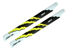 Billede af ZEAL Energy Carbon Fiber Main Blades 380mm (Yellow) - Goblin 380