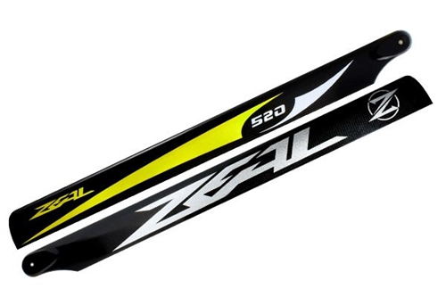 Picture of ZEAL Carbon Fiber main blades 520mm (Yellow)