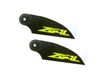 Billede af Zeal 70mm carbon fiber tail blade - yellow