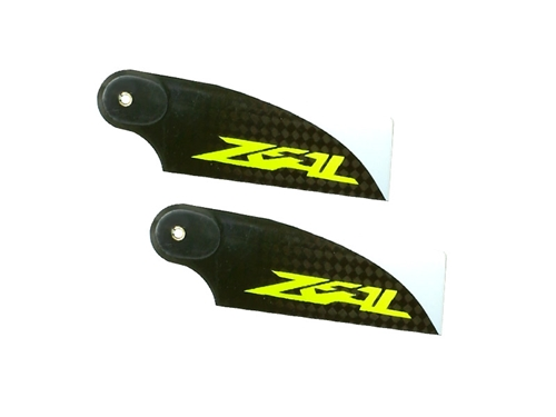 Picture of Zeal 70mm carbon fiber tail blade - yellow