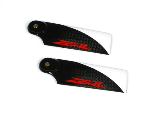Picture of Zeal 72mm carbon fiber tail blade - red