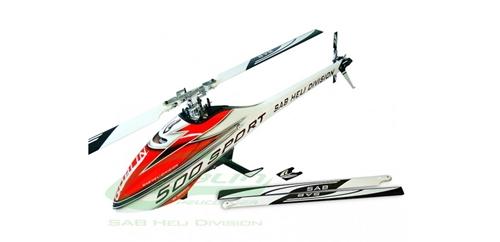 Picture of Goblin 500 Sport kit + 2 sæt blade (hvid/rød)