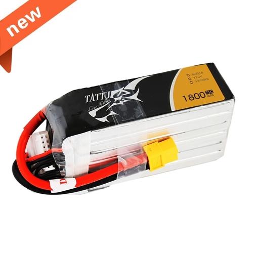 Picture of Tattu 1800mAh 22.2V 75C 6S1P Lipo Battery Pack