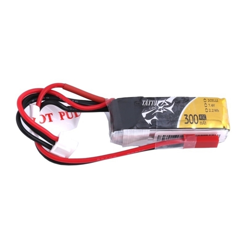 Picture of 300mAh 7.4V 45C 2S1P Lipo