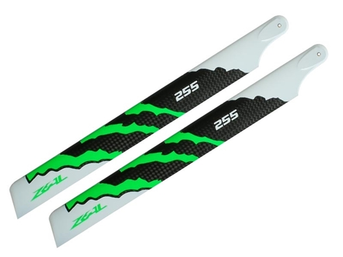 Picture of ZEAL Carbon Fiber main blade 255mm (Green)